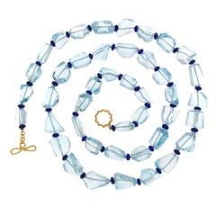 Valentin Magro Blue Topaz and Lapis Roundelle Necklace