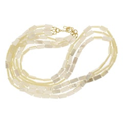 Valentin Magro Mother of Pearl Gold Strand Necklace