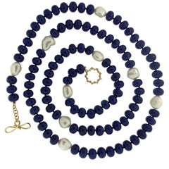 Valentin Magro Lapis Roundels and Pearl Necklace