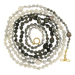 Valentin Magro Black and White, Large and Small Keshi Pearl Necklace