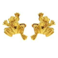 Valentin Magro Gold Frosch Manschettenknöpfe