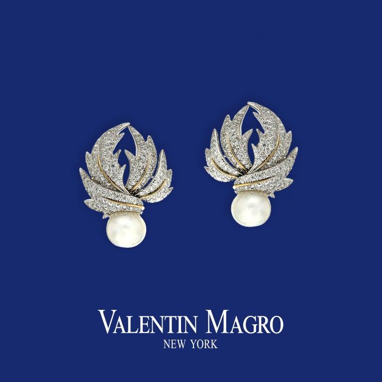 Valentin Magro Diamond Pave Multi-Leaf Earrings For Sale 2