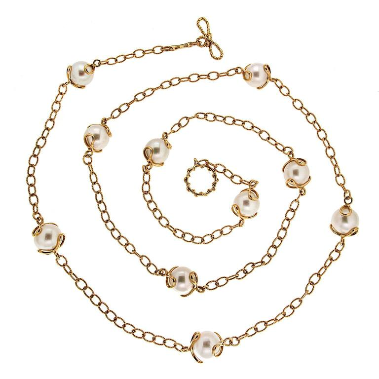 Carina Fresh Water Pearl Gold Necklace