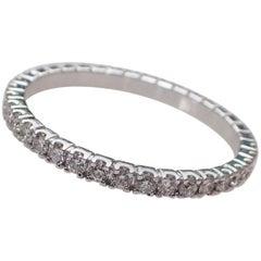 Eternity Band with 0.58 Carat of Diamond in 18 Karat White Gold, Wedding Ring