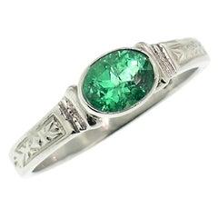 Custom Platinum Ring with Brazilian Paraiba Tourmaline