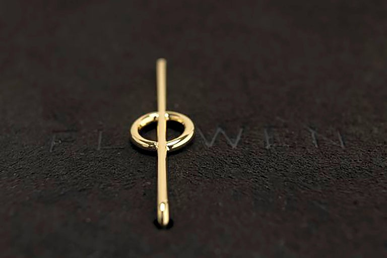 Contemporary FLOWEN Sterling Silver Aoda Studs and EarJackets in Black Gommato and Diamonds For Sale