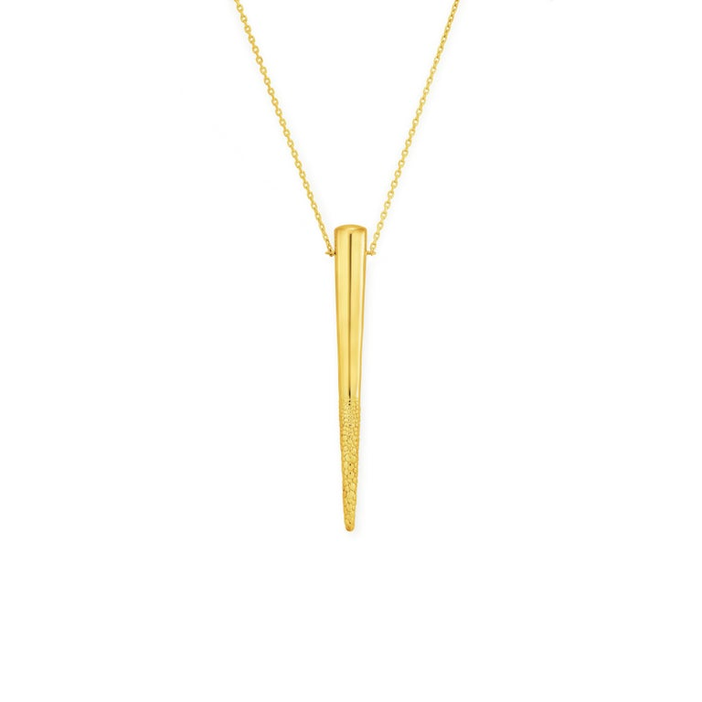 Sterling Silver Particle Necklace with Gold Vermeil