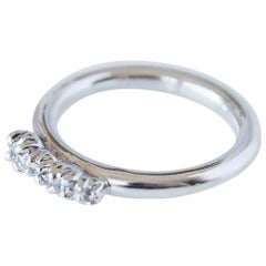 White Diamond Love Ring Engagement Silver J Dauphin