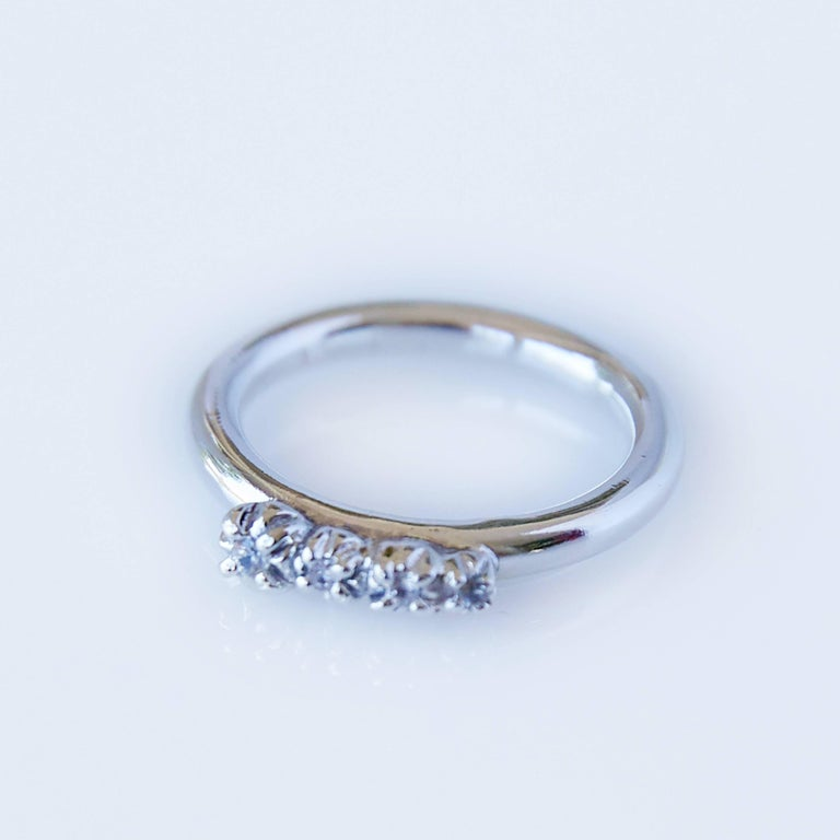 Love Ring White Diamond White Gold Engagement Ring J Dauphin In New Condition For Sale In Los Angeles, CA