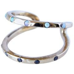 Love Ring Gold Black Diamond Opal Adjustable J Dauphin