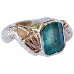 Emerald Gold Snake Ring Statement J Dauphin