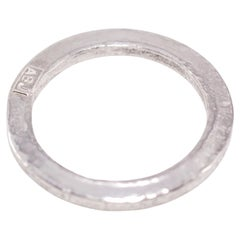 Platinum Medium Band Ring Stacking Fashion Unisex Design for Men Women
