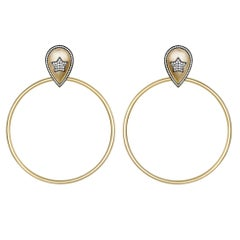 Large Statement Star Hoop Earrings