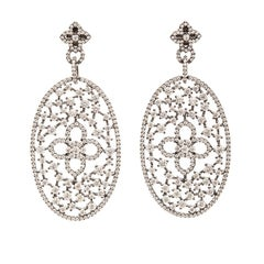 Statement Drop Rhodium or Rose Gold-Plated Earrings