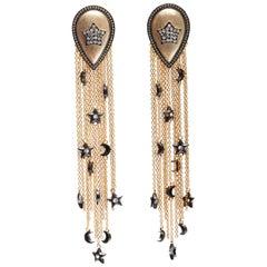Charmed Tassels Earrings in Vermeil Gold