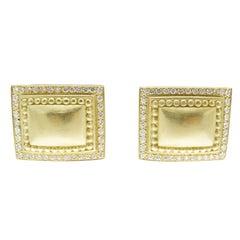 B. Kieselstein Cord Diamond 18 Karat Gold Ear Clips