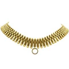Victorian 15 Karat Gold Necklace, English