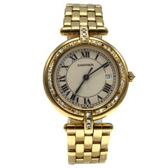 Cartier Diamond 18 Karat Gold Wristwatch