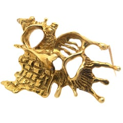 18 Karat Gold Brooch