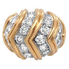 Tiffany & Co 18 Karat Diamond Gold Ring