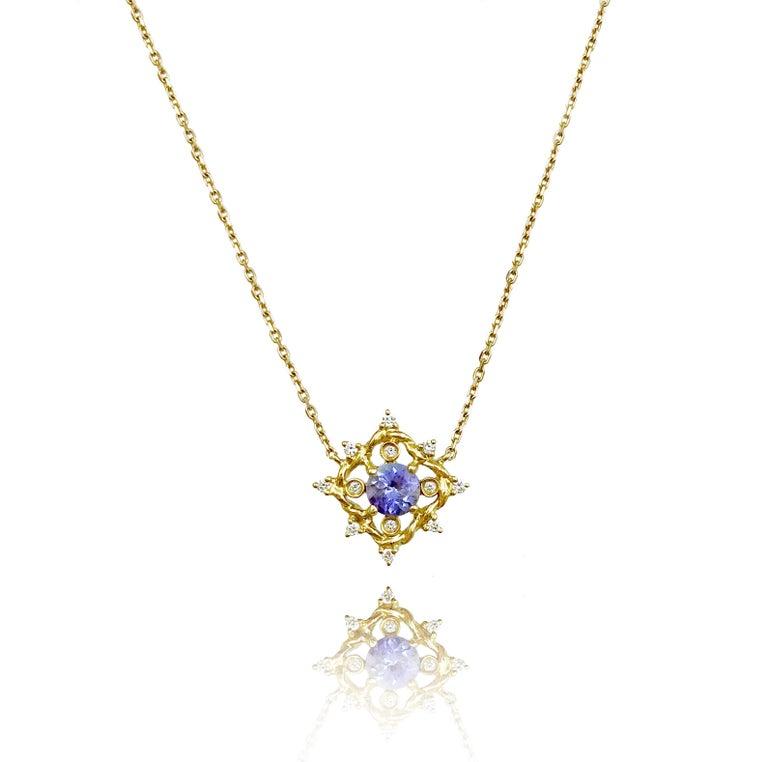 Ari orange sapphire pendant necklace 14k yellow gold 010tcw contemporary ari orange sapphire pendant necklace 14k yellow gold 010tcw diamonds for sale aloadofball Image collections