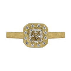 1 Carat Solitaire Round Brilliant Yellow Gold Diamond Ring