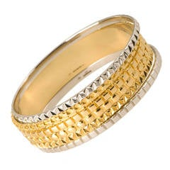 2011 Solange Azagury-Partridge, Set of Bangles in Yellow and White Gold