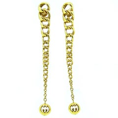 Contemporary Gucci Dangle Yellow Gold Earrings