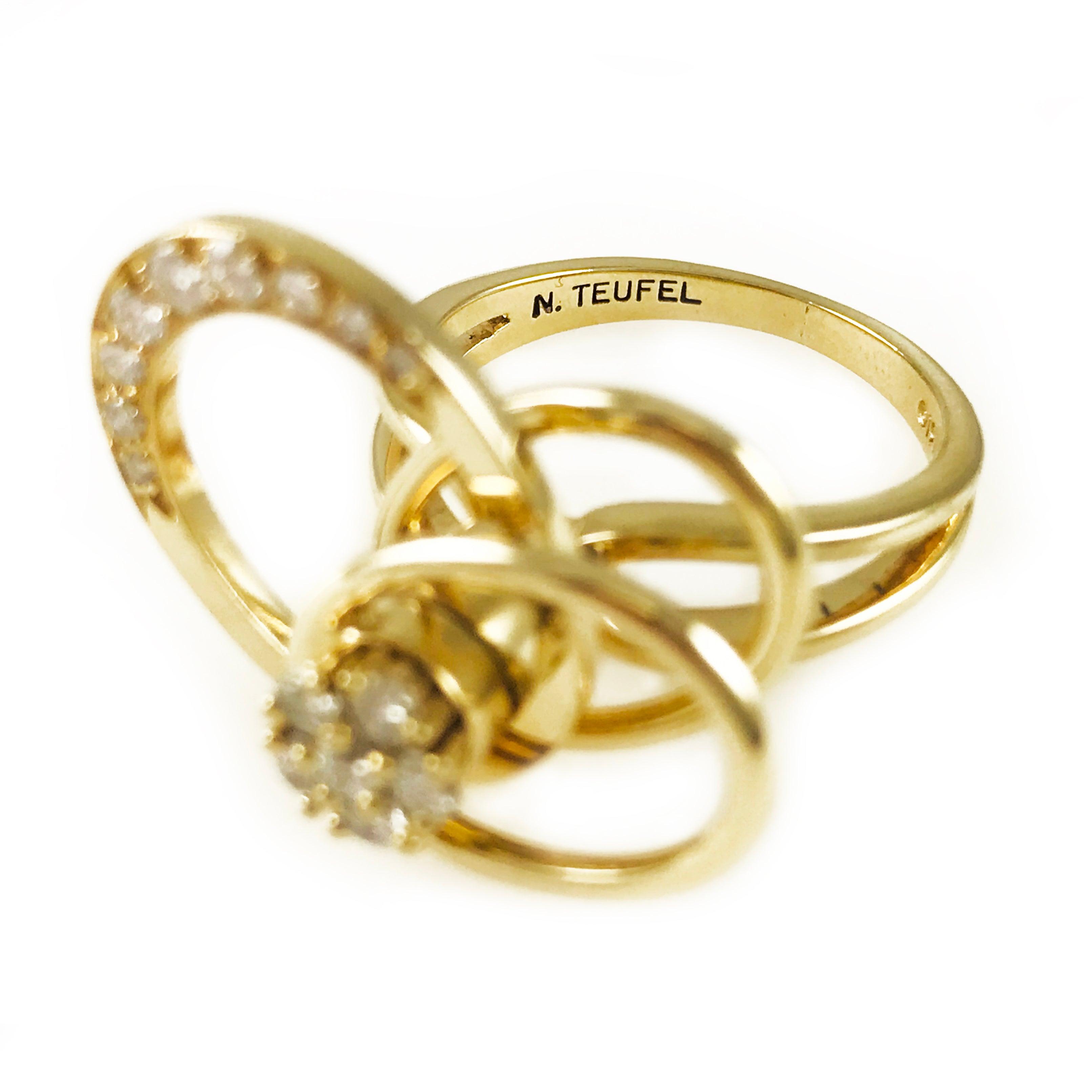 Vintage norman teufel karat gold original swinger ring circa at stdibs jpg  3224x3224 Teufel motion rings