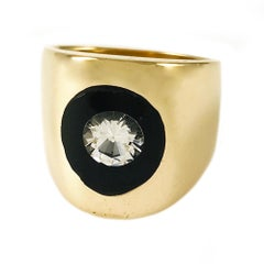 Incogem Floating Diamond Lucite Ring - Size 5