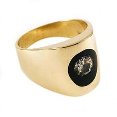 Incogem Floating Diamond Lucite Ring - Size 9