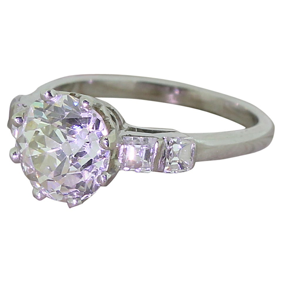 2 46 carat cut platinum ring for sale at 1stdibs