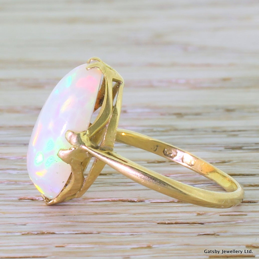 6.00 Carat Opal Gold Cocktail Ring 3