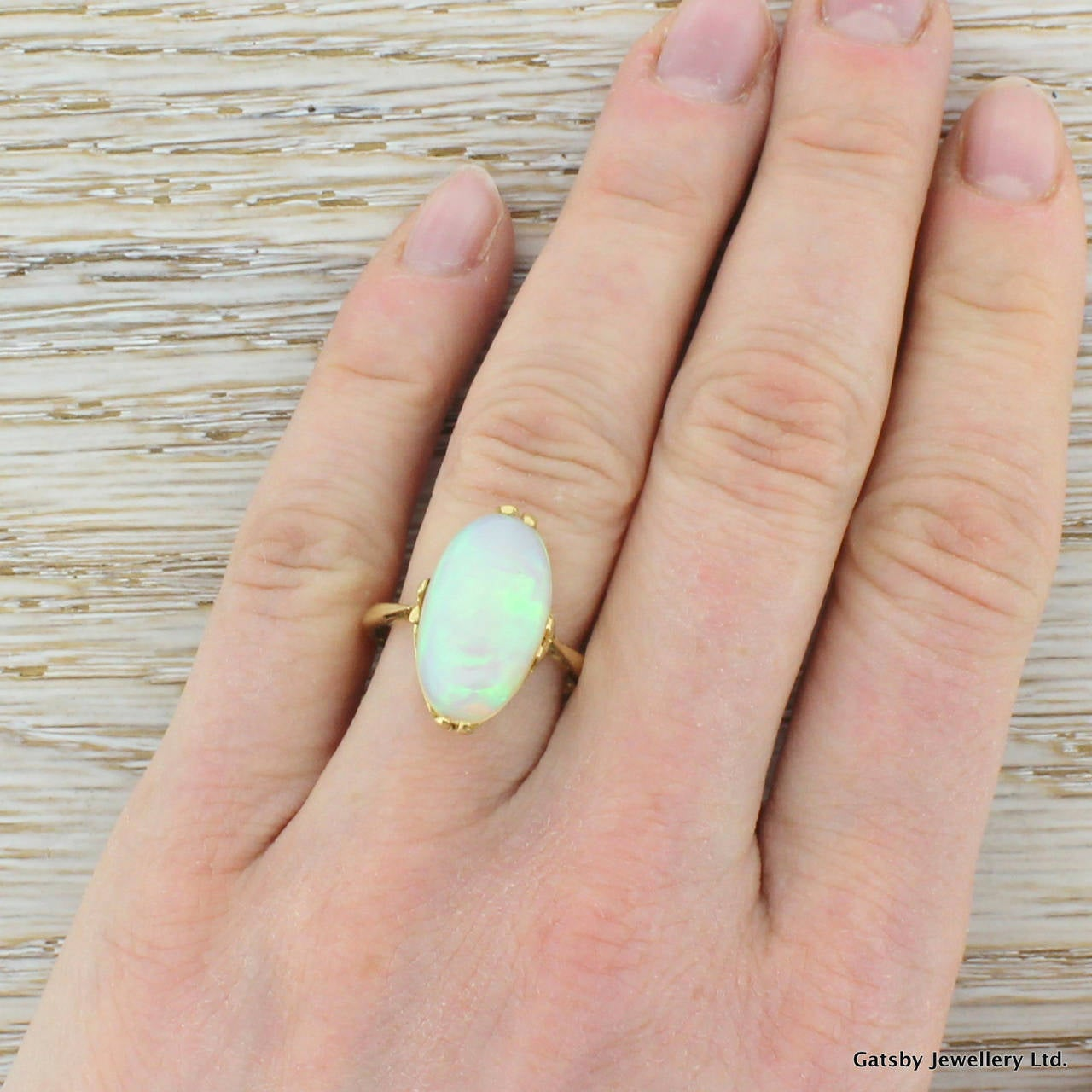 6.00 Carat Opal Gold Cocktail Ring 5