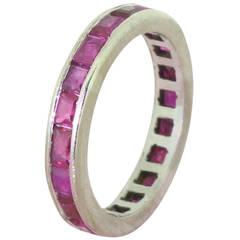 2.00 Carat Natural Ruby Full Eternity Ring, circa 1930