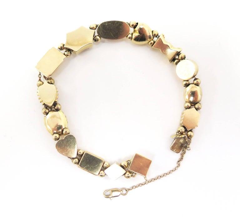 Women's or Men's 1950s Multi-Stone Slide Bracelet For Sale