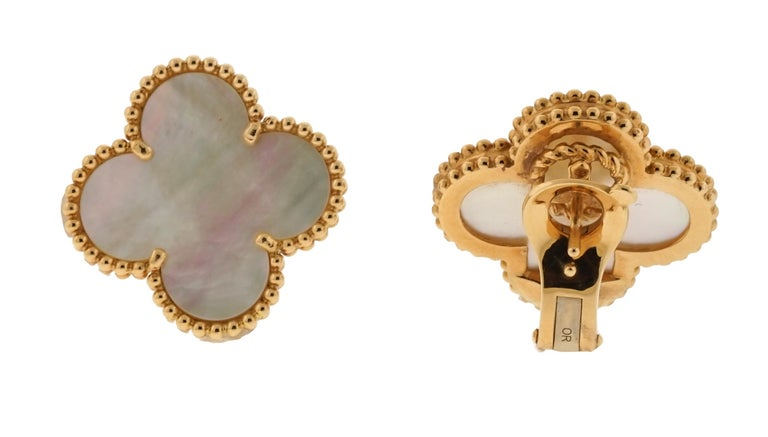 Modern Van Cleef & Arpels Magic Alhambra Earrings  For Sale