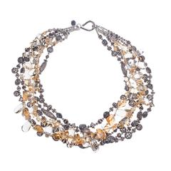 Deborah Liebman Citrine Sterling Multi-Strand Necklace
