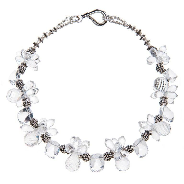 Deborah Liebman Crystal Quartz and Silver Necklace