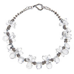 Deborah Liebman Crystal Quartz and Silver Necklace