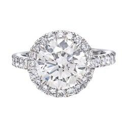 GIA Certified 3.78 Carat Round Cut Diamond Ring