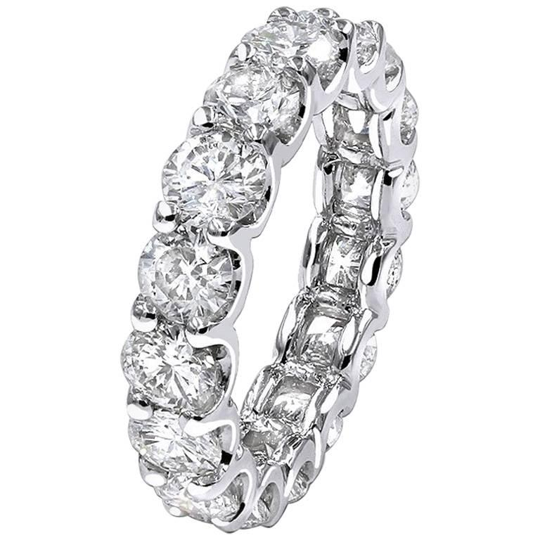 Infinity Wedding Band.5 70 Carat Diamond Eternity Infinity Wedding Ring Band 14k White Gold