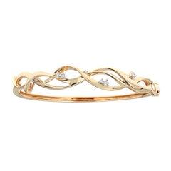 Diamond 14 Karat Gold Bangle