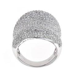 18 Karat White Gold and 2.85 Carat Diamond Ring