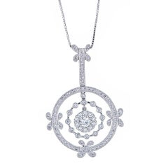 18 Karat White Gold and Diamonds Necklace
