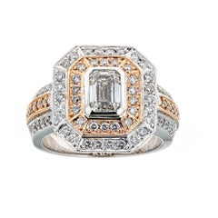 18 Karat Two-Tone Gold 1.7 Carat Diamond Ring