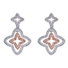 Natalie K. 14 Karat White Gold and 0.63Carat Diamond Earrings