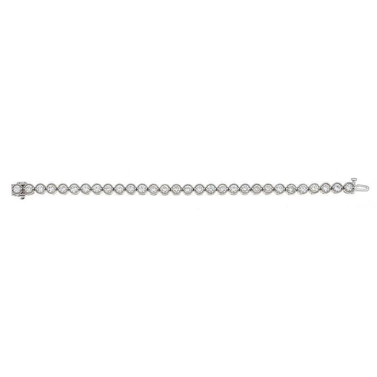 Diamond Line Tennis Bracelet 6 10 Carat Total In 18 Karat