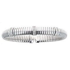 14 Karat White Gold and 0.42 Carat Diamond Cuff Bracelet