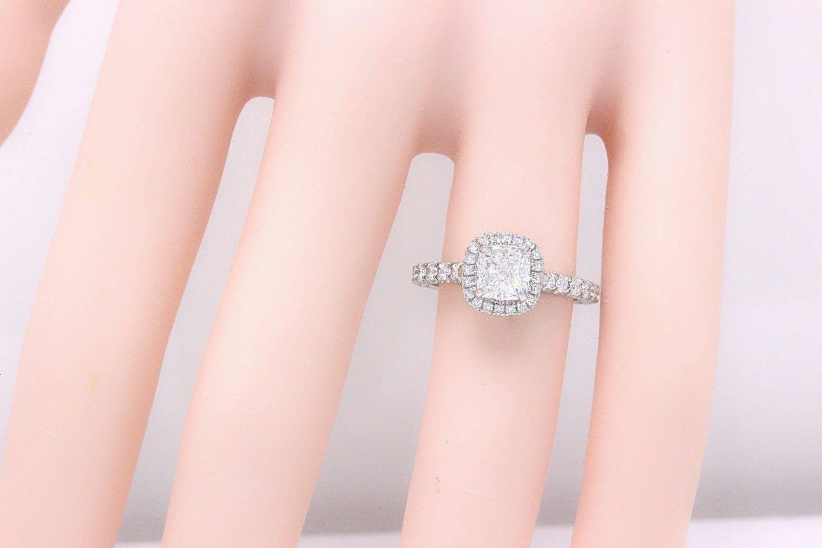 Cartier Destinee 1.59 Carat Platinum Diamond Engagement Ring at 1stdibs